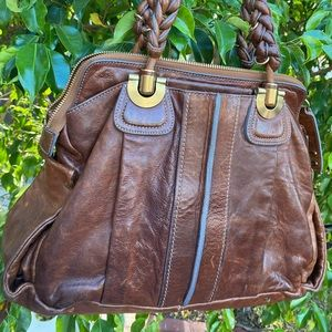 Chloe brown leather bag